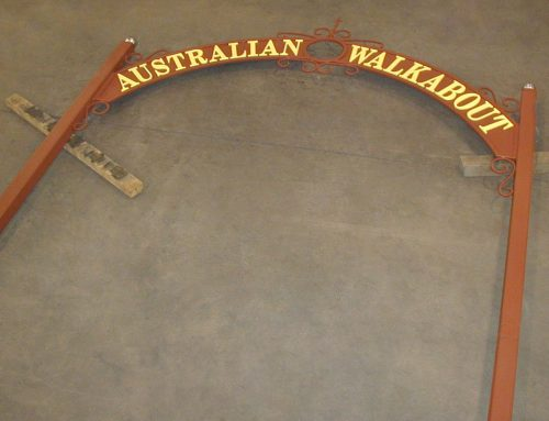 Australian Walkabout Sign for the Erie Zoo