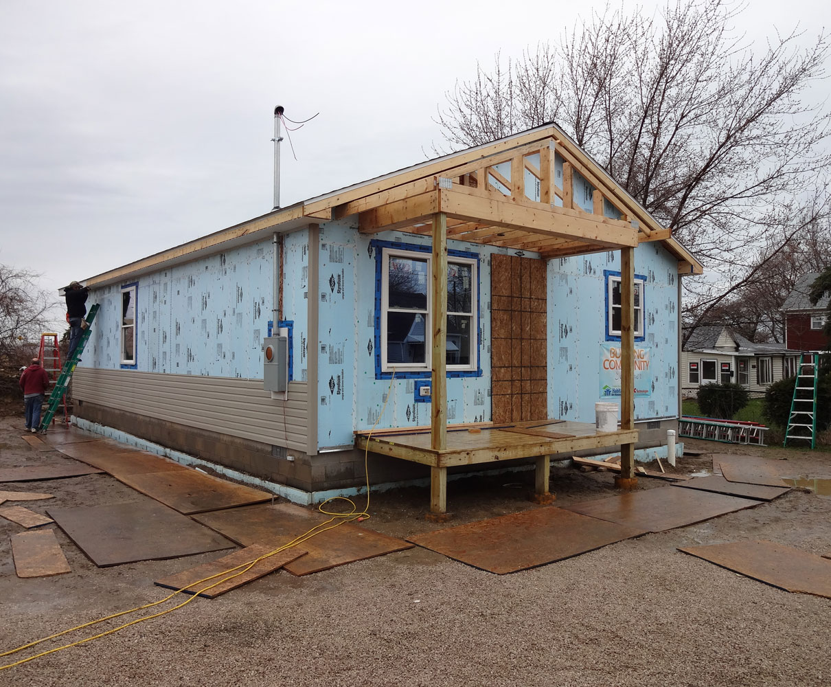 Unfinished Habitat for Humanity house