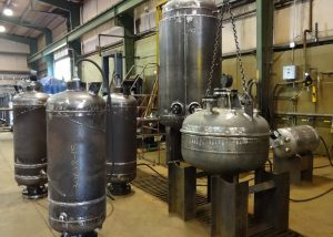 pressure vessels in hydro test