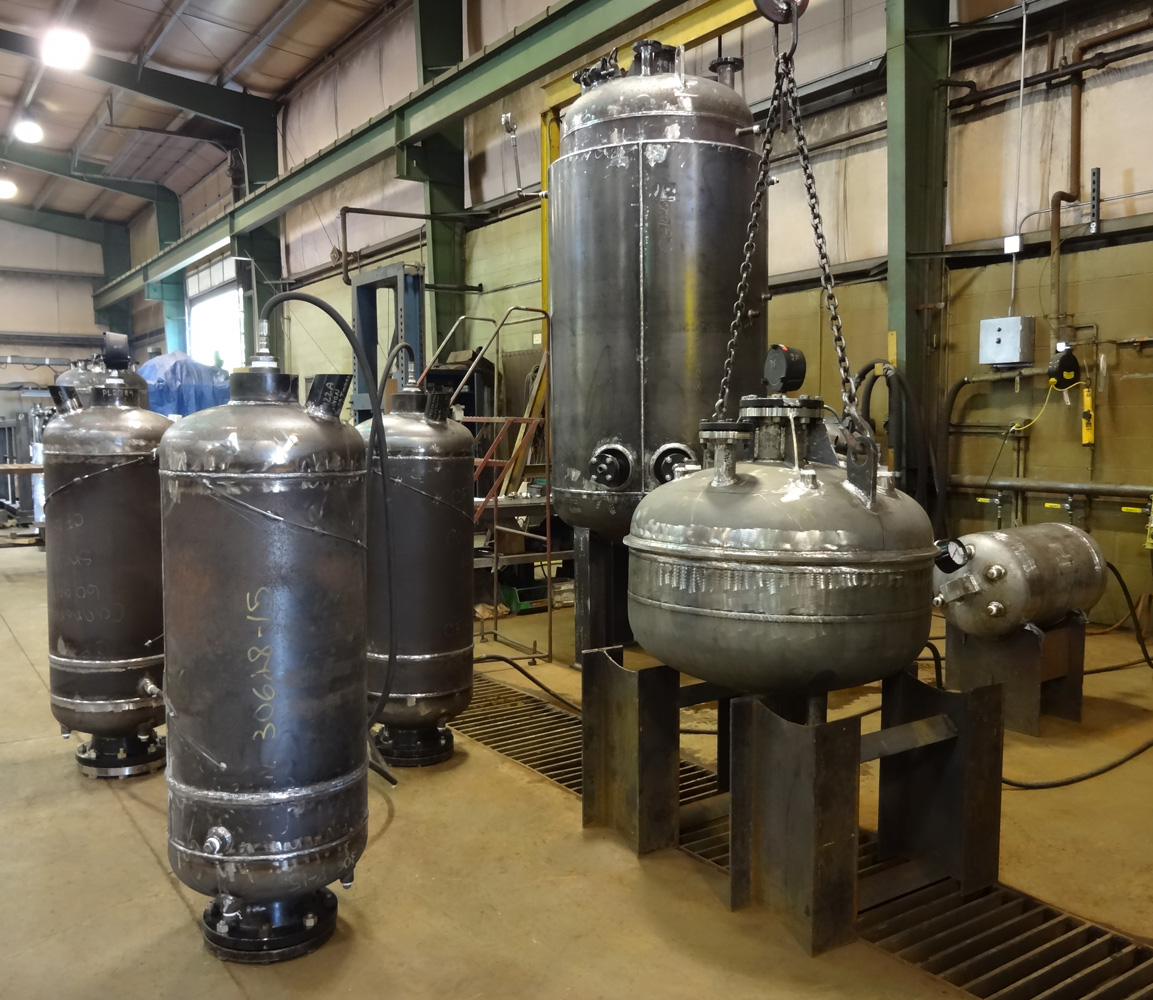 pressure vessels in hydro test